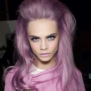 cara-delevigne-beauty-pink-hair-purple-pastel-pretty-fashion