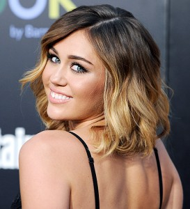 miley cyrus- ombre-balayage-beauty-cosmetics-makeup-blog